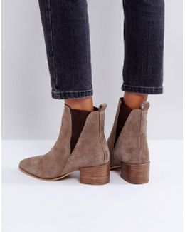 Suede Heeled Chelsea Boots
