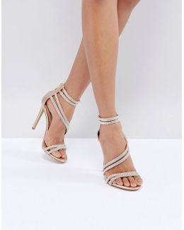 Sweetest Rose Gold Heeled Sandals