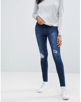 Rika Skin Tight Raw Ankle Jeans
