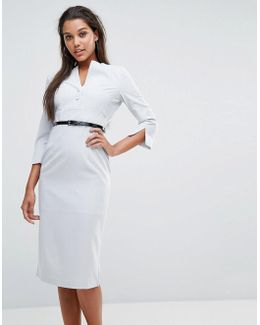 Layla Belted Pencil Dress