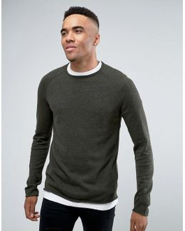 Roll Hem And Neck Sweater