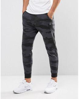 Cuffed Joggers Skinny Fit Leg Logo In Black Camo