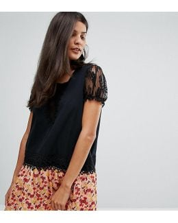 Exclusive Drop Waist Dress With Contrast Printed Skirt