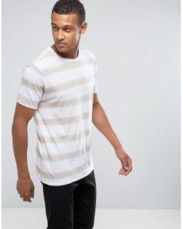 Man Striped T-shirt In Ecru