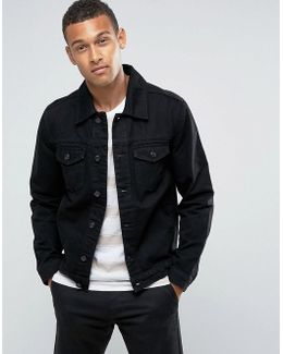 Man Denim Jacket In Black
