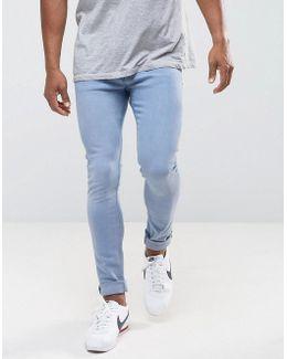 Man Skinny Jeans In Light Wash