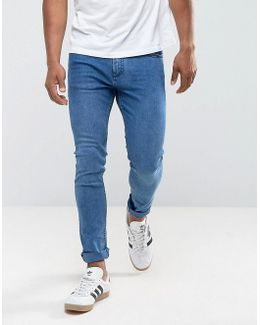 Man Skinny Jeans In Mid Wash