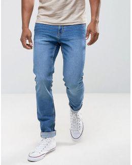 Man Slim Jeans In Mid Wash
