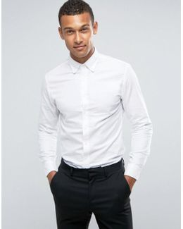 Man Oxford Shirt In White