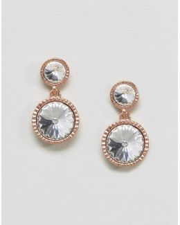 Ronda: Rivoli Crystal Drop Earring