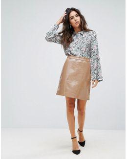 Woodblock Paisley Silk Shirt