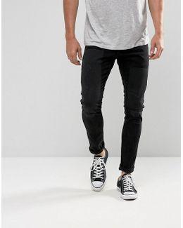 3301-a Super Slim Jeans Distressed Repair Wash Black