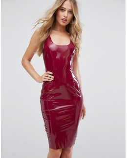 High Shine Bodycon Dress