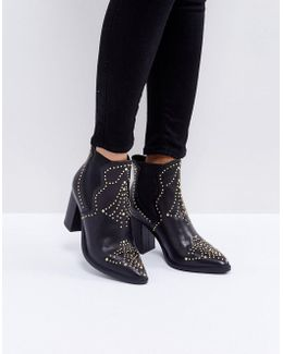 Himmel Studded Heeled Boots