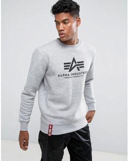 Logo Crew Sweatshirt In Grey Marl