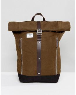 Rolf Backpack In Waxed Cotton Canvas