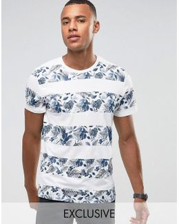 Originals T-shirt With Printed Floral Stripe