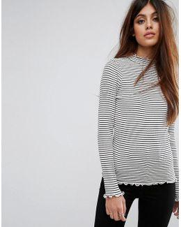 Ribbed Knit Stripe Top