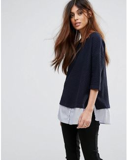 Hybrid Shirt Knit Jumper