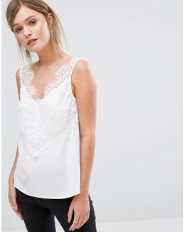 Sleeveless Lace Detail Cami