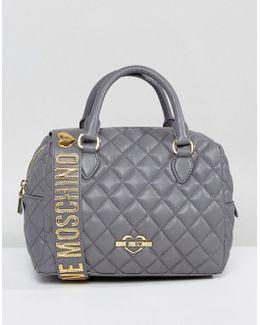 Quilted Bag With Detatchable Shoulder Strap