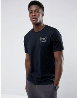 Man Neutral Print T-shirt In Black