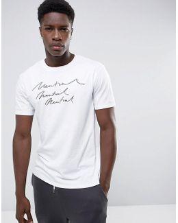 Man Neutral Print T-shirt In White