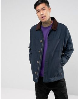 Canvas Jacket With Corduroy Collar