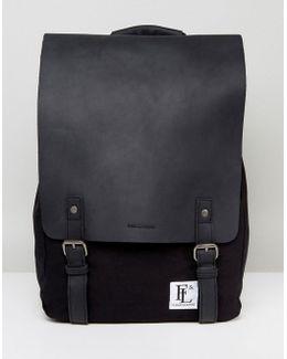 Leather Devon Backpack In Black