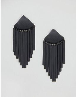Matte Metal Tassel Earrings