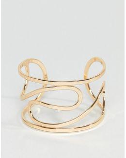 Sleek Twist Cuff Bracelet