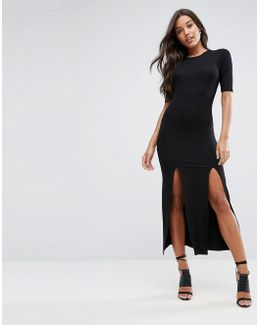 Ultimate Double Split Front Maxi Dress