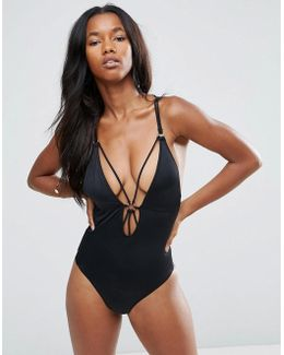 Strappy Metal Detail Swimsuit