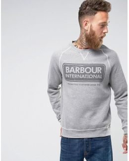 International Slim Fit International Logo Sweat In Grey