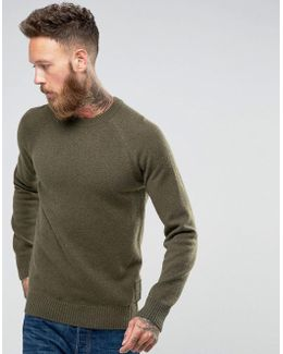 Staple Lamswool Crew Jumper In Olive