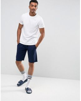 Lounge Jogger Shorts Slim Fit Drawstring In Navy