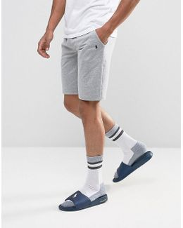 Lounge Jogger Shorts Slim Fit Drawstring In Grey Marl