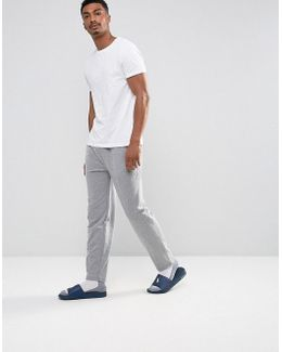 Lounge Joggers Slim Fit Drawstring In Grey Marl