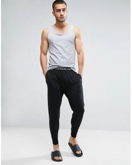 Lounge Joggers Slim Fit Cuffed Jersey In Black