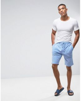 Oxford Sleep Shorts Multi Polo Player In Light Blue