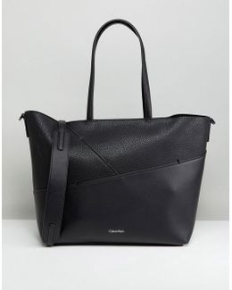 Medium Tote Bag With Stitch Detail