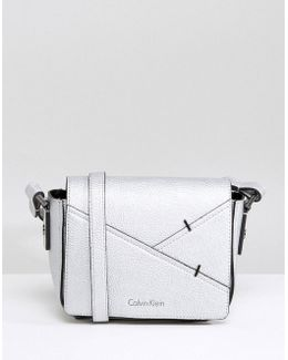Metallic Crossbody With Stitch Detail