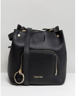 Bucket Bag With Ring Detail