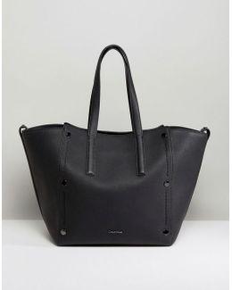 Large Tote Bag With Tonal Stud Detail