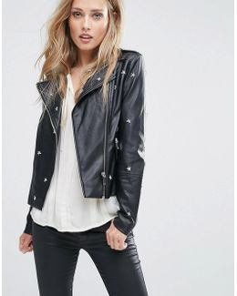Jars Star Pu Leather Jacket
