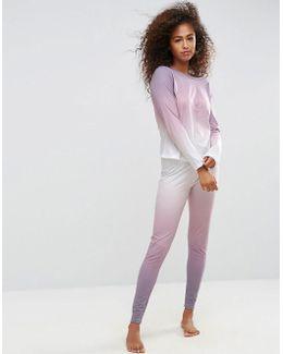 Rainbow Dip Dye Long Sleeve Tee & Legging Pyjama Set