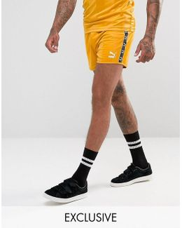 Retro Football Shorts In Yellow Exclusive To Asos 57658001