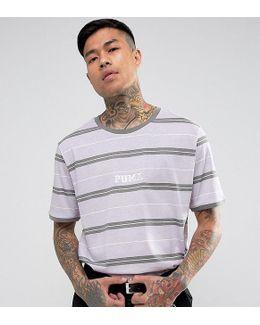 Retro Stripe T-shirt In Purple Exclusive To Asos
