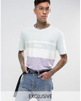 Color Block T-shirt In Blue Exclusive To Asos