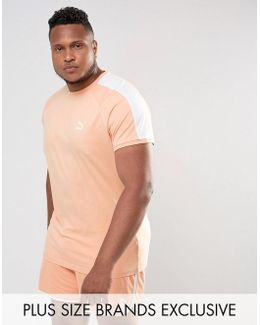 Plus T7 Logo Muscle Fit T-shirt In Orange Exclusive To Asos 57700215